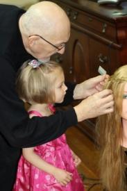 3   Three Year Old Future Hairdresser
