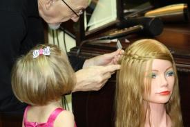 2   Three Year Old Future Hairdresser