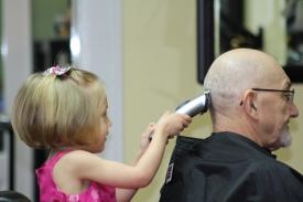 1  Three Year Old Future Hairdresser